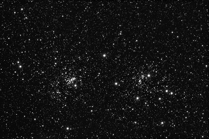 NGC891 Double Cluster