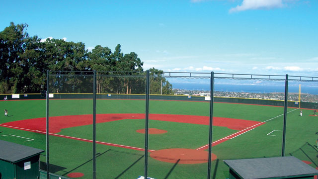Baseball Fieldturf Field Batting Cages Press Box Player Locker Room And Pristine Views Of The Bay