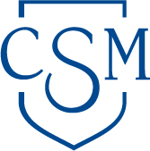 CSM Monogram in blue
