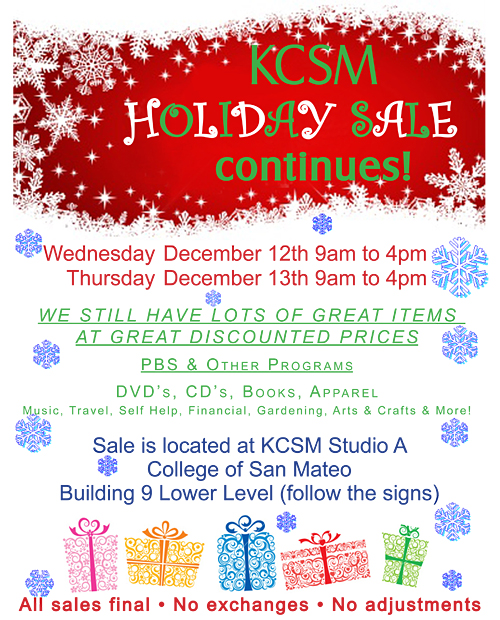 KCSM Holiday Sale
