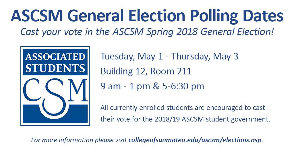 ASCSM General Election Polling Dates