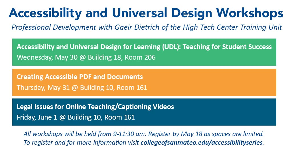 Accessibility and Universal Design Workshops