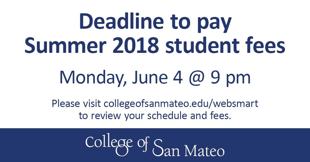 Deadline Student Fees