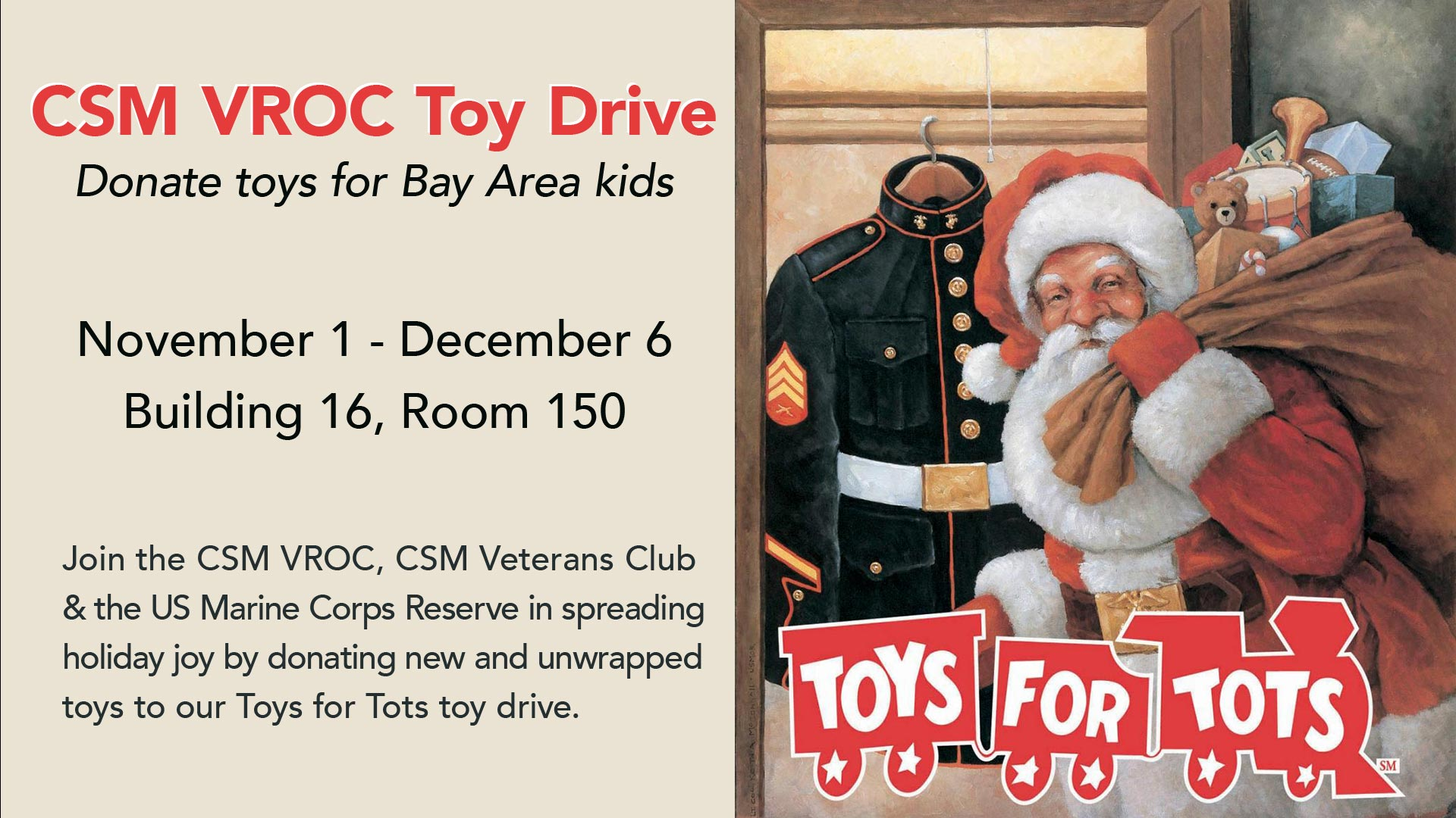 Toys for Tots sign
