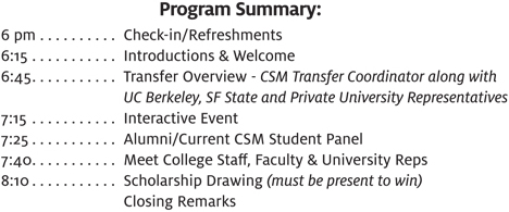 Connect to College Program Summary