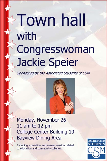 Town hall with Congresswoman Jackie Speier