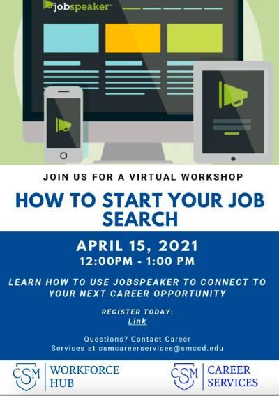Learn How to Use Jobspeaker workshop April 15