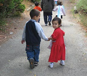 Two Kids Walking