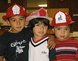 Kids with Firemen Hats