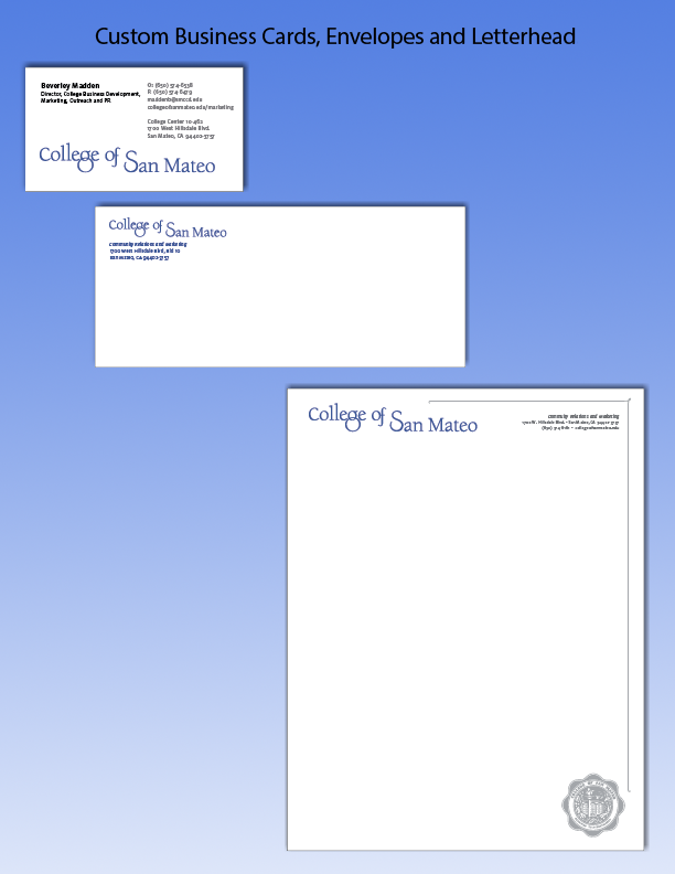 Campus Copy & Post at College of San Mateo - Business Cards & Stationery
