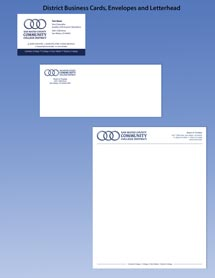 District Business Cards, Envelopes and Letterhead