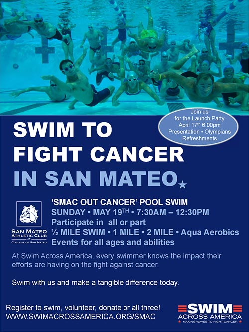 Swim to fight cancer in San Mateo
