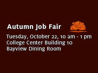 College of San Mateo Autumn Job Fair