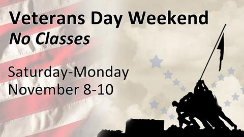 Veterans Day Holiday Weekend