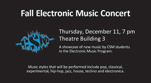 CSM Fall Electronic Music Concert