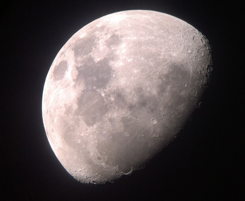 Image of the moon taken with the CSM Telescope