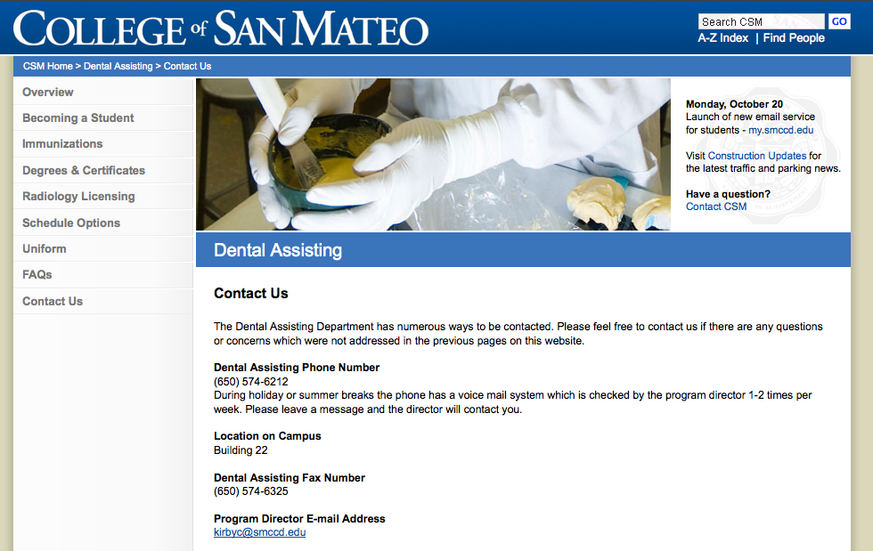 OmniUpdate at College of San Mateo - Sample Pages