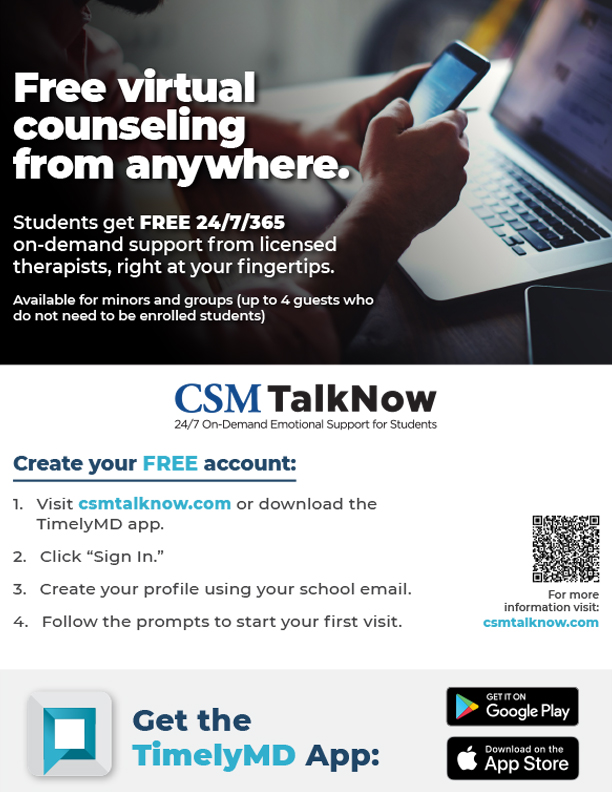 2021 Virtual Counseling Flier
