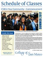 CSM Summer 2017 Schedule of Classes