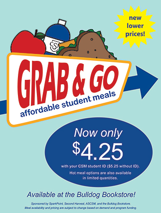 Grab & Go affordable student meals now only $4.25