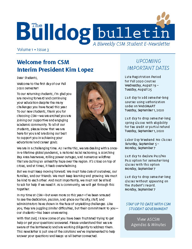 CSM Student Newsletter - Volume 1, Issue 3
