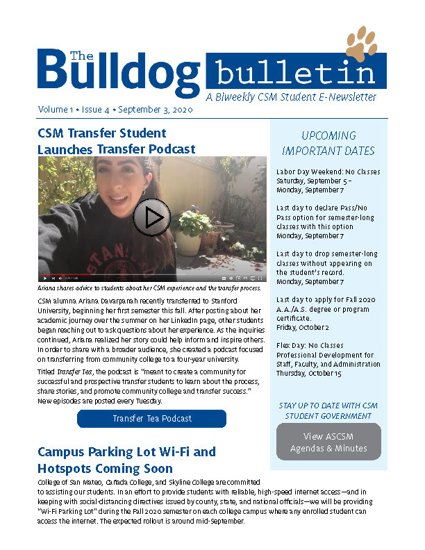 CSM Student Newsletter - Volume 1, Issue 4