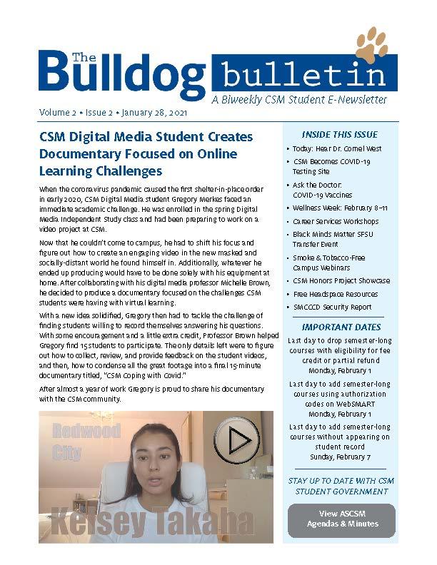 CSM Student Newsletter - Volume 2, Issue 2