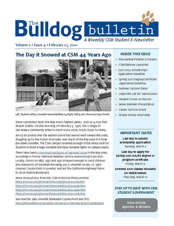 CSM Student Newsletter - Volume 2, Issue 4