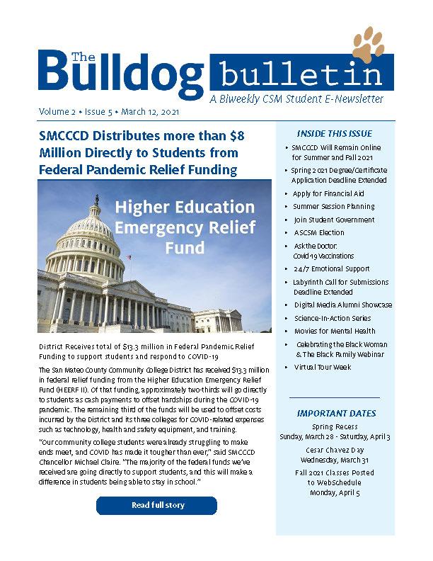 CSM Student Newsletter - Volume 2, Issue 5