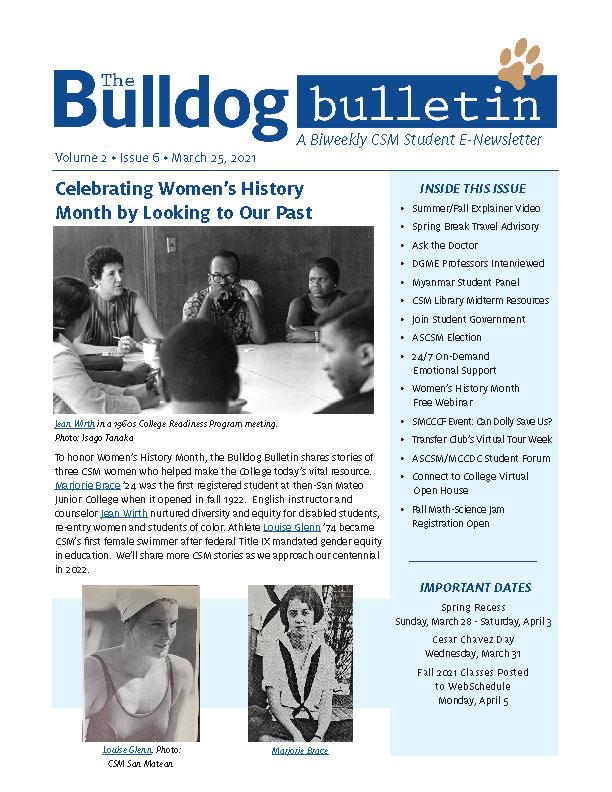 CSM Student Newsletter - Volume 2, Issue 6