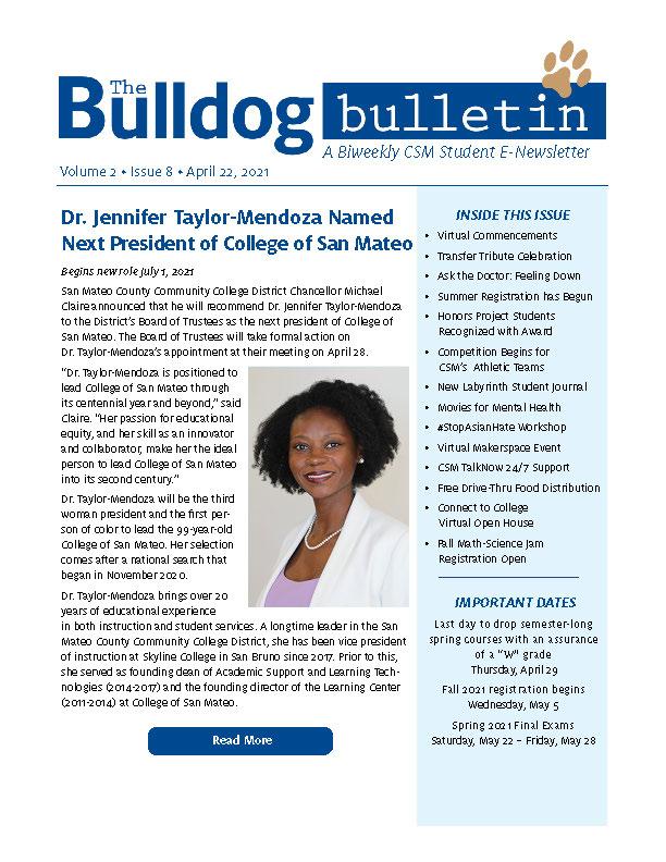 CSM Student Newsletter - Volume 2, Issue 8