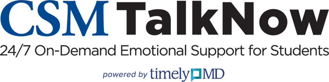 CSM TalkNow - 24/7 On-Demand Emotional Support for Students